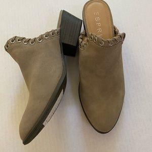 Sz 6, Esprit tan/brown Tessa Mule shoes